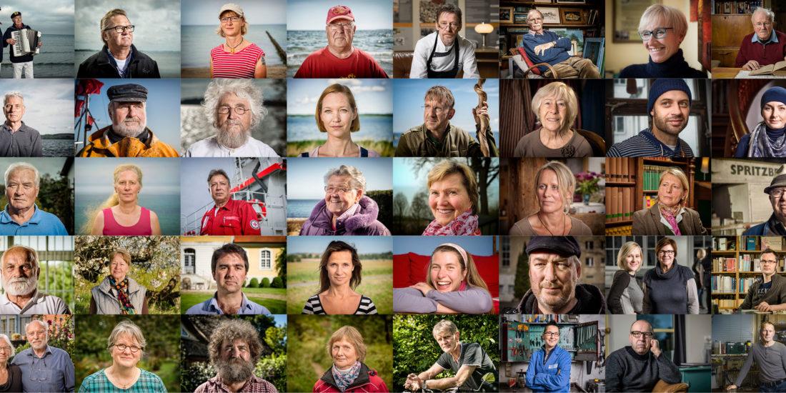Grafikdesign für Kampagene Film- und Fotoproduktion 25 Jahre 52 Gesichter Pocha Burwitz