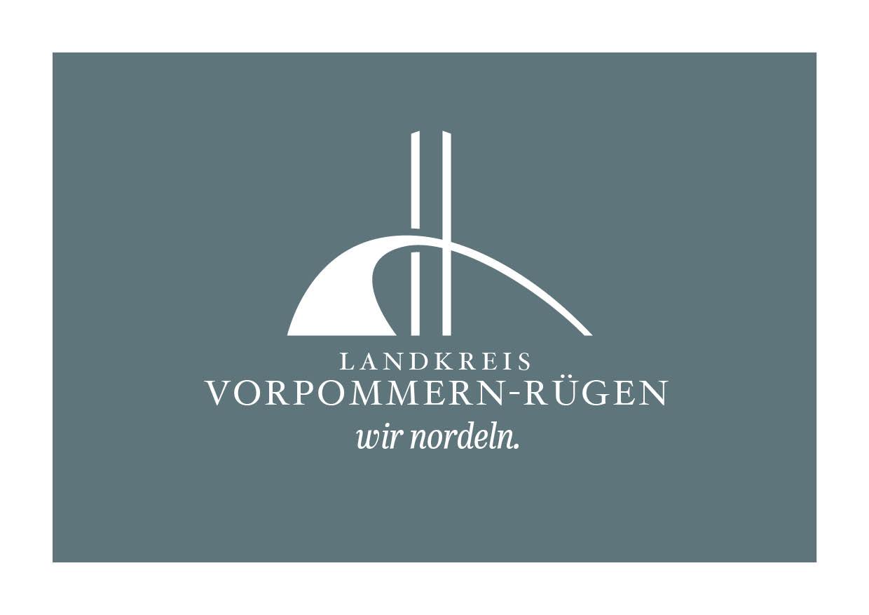 Logo Design und Claim für den Landkreis Vorpommern-Rügen
